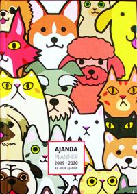 2019-2020 16 AYLIK AJANDA DOG AND CATS